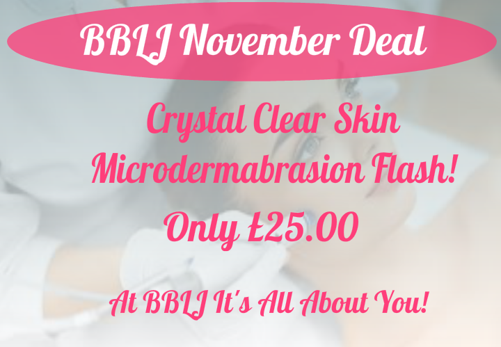 November Crystals Clear Skin Microdermabrasion deal,beauty flash, Tutbury,Burton,Derby