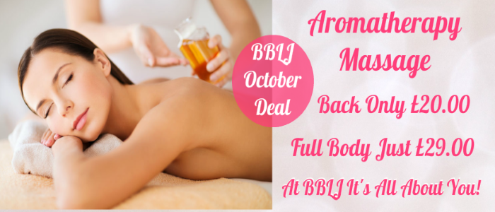 Aromatherapy massage at BBLJ Beauty Salon in Tutbury near Burton on Trent