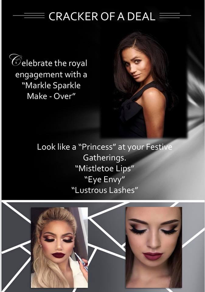 Markle Sparkle Makeover, party makeover look like a Princess and celebrate the party season , in Burton, Derby, Tutbury and beyond