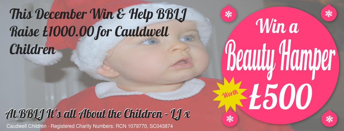 Win a beauty hamper and help raise £1000 for Cauldwell Children's charity